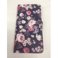 Dimaka Floral Pattern(Peony Flower) iPhone 6 PLUS Wallet Case,