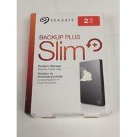 Seagate Backup Plus Slim 2TB Portable External Hard Drive USB 3.0 (Silver)