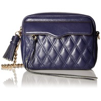 Rebecca Minkoff Mini Leah Clutch, Camera Bag, Moon Dark Blue