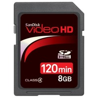 SanDisk SDSDHV-008G-A15 8GB Video HD SDHC - SEALED
