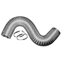 Readi-Pipe Flexible  Aluminum Dryer Vent Duct, 4-inch by 8-foot with 2 Clamps