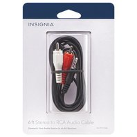 Insignia 6' Stereo Audio to RCA Cable