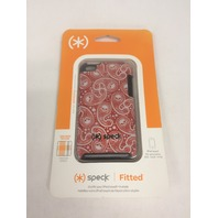 Speck Products Fitted Hard Case with Fabric for iPod Touch 4G - MisKerChief Red