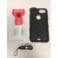 iPhone 7 PLUS Case,heavy Duty Armor Military Grade Holster Belt Clip (black)