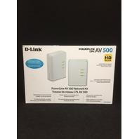 D-Link PowerLine AV 500 Mini Adapter Starter Kit (DHP-309av)