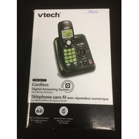 VTech CS6124 Black Cordless Phone with Answering System and Caller ID/Call Waiting, with 1 Handset