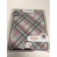 Speck Products Apple iPad Fitted Case in Classic Plaid (Pink and Gray) - Gen 1