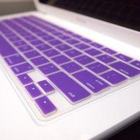 TOP CASE - Rubberized Hard Case for 13-Inch Macbook  Purple