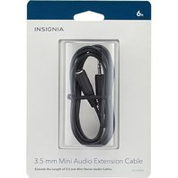 Insignia 6' 3.5mm Mini Stereo Audio Extension Cable Ns-hz304