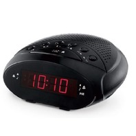 Onn Dual Alarm Am/Fm Clock Radio Black