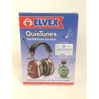 Elvex QuieTunes 660R AM/FM Radio Rechargeable Earmuffs