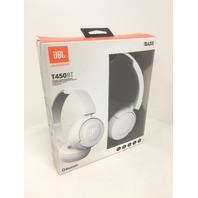 JBL Pure Bass Sound Bluetooth T450BT Wireless On-Ear Headphones White