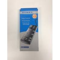 Dynex - 8-outlet 2-USB-port Surge Protector