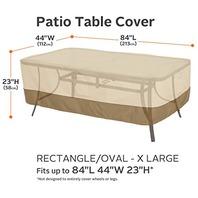 XL Classic Veranda Rectangular/Oval Patio Table Cover
