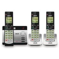 Vtech Cs5129-3 Dect 6.0 Expandable Cordless Phone System With 3 Handsets