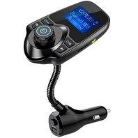 Nulaxy Bluetooth FM Transmitter Wireless HandsFree Car Kit Adapter