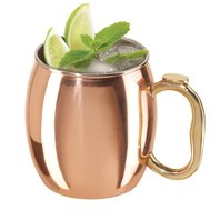 OliaDesign Handmade Hammered Moscow Mule Mug (Set of 2), 16 oz, Copper