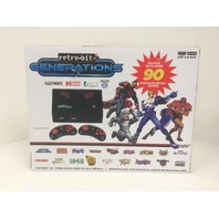 Retro-Bit Generations - Plug and Play Game Console Red/Black 90 plus Retro Games