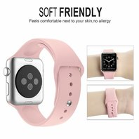 Zyra Sport Band for Apple Watch 42mm Band PINK SAND