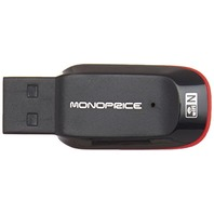 Monoprice USB Wireless Lan 802.11N Adapter with Keychain Hole, 1T1R -150Mbps