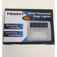 Hoont Pack Of 3 Outdoor Stainless Steel Led Solar Step Light Deck Patio Stairs