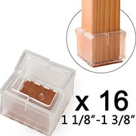 Square table and stool floor protectorsset of 16