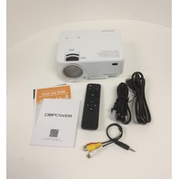 DBPOWER T20 1800 Lumens LCD Mini Projector, Multimedia Home Theater