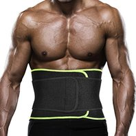 Ikeepi Lumbar Back Support Belt Elastic & Breathable Compression for Man & Women