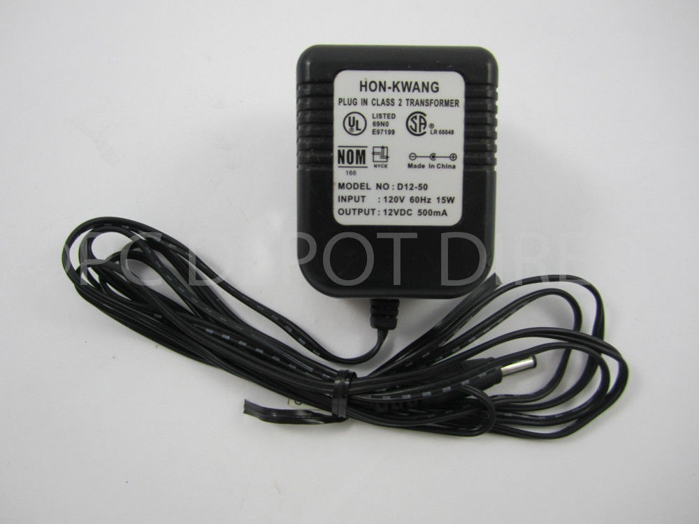 HON-KWANG D12-50 12v 500mA POWER SUPPLY