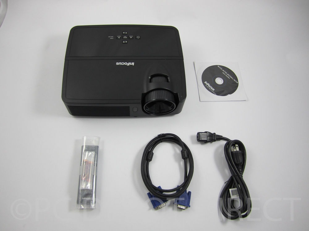 Infocus IN114 DLP 2700 ANSI Lumens XGA DLP Projector VGA 3d ready -Only 5 hours!