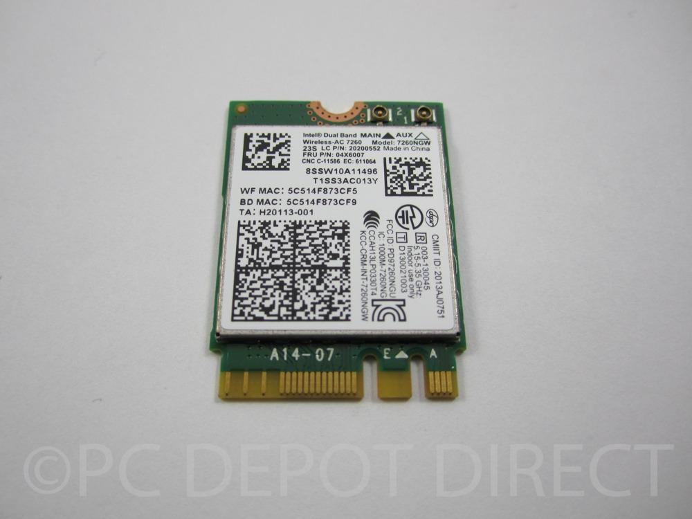 Lenovo Thinkpad 802.11 AC 7260 WLAN Wireless Card 04X6007 t440 w540 t540p