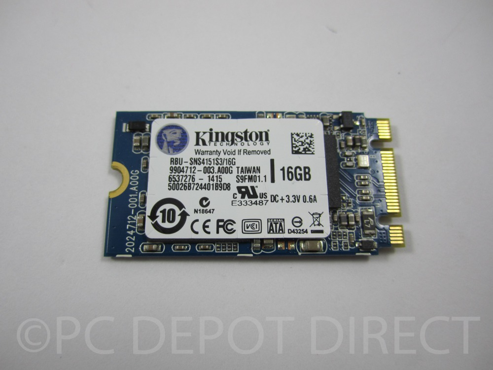 KINGSTON RBU-SNS4151S3 16GB M-2 SOLID STATE DRIVE  Genuine Kingston