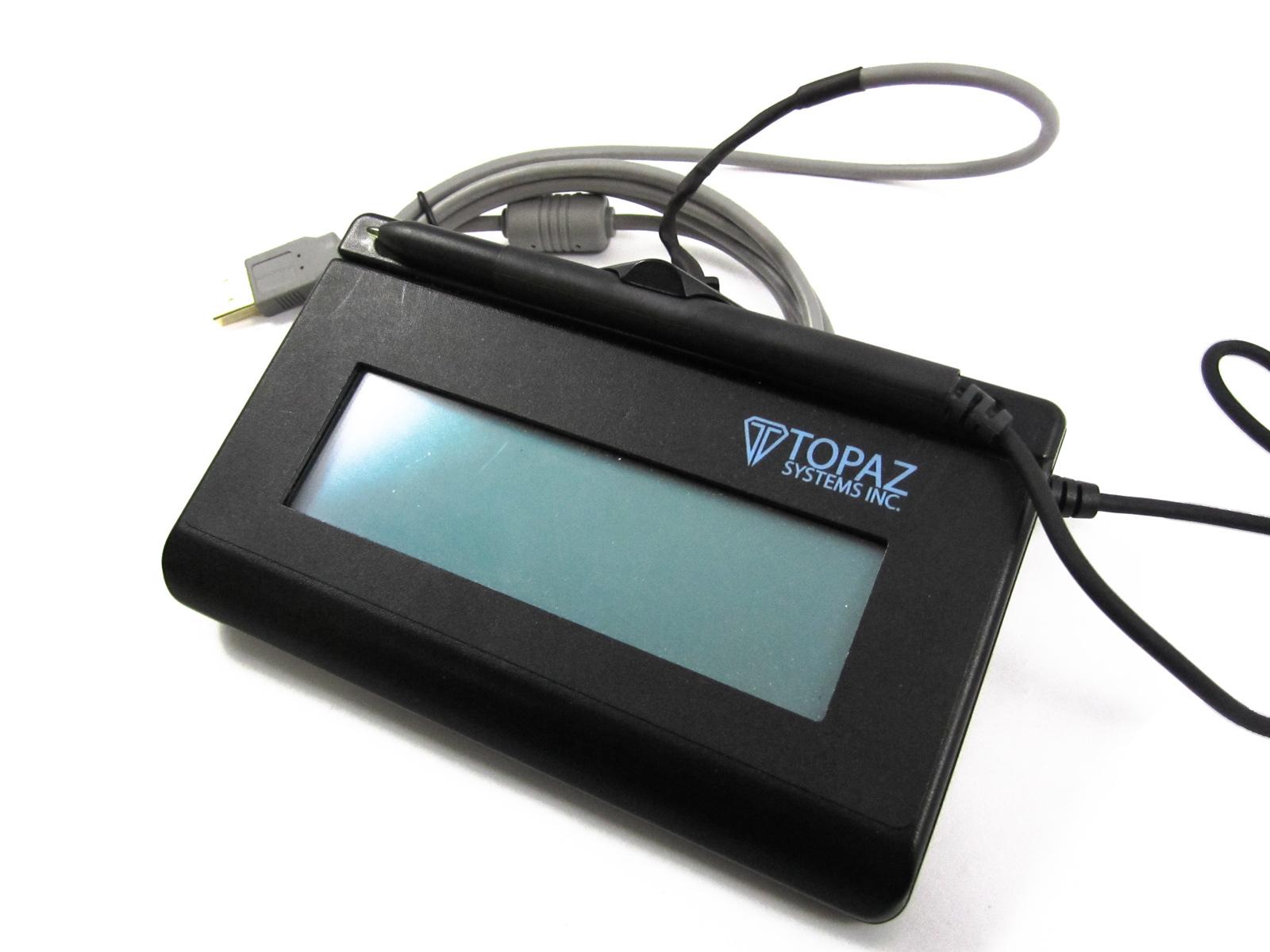 T-LBK462-BSB-R Topaz 1X5 Backlit LCD Signature Reader Capture Pad - 2-3 day Ship