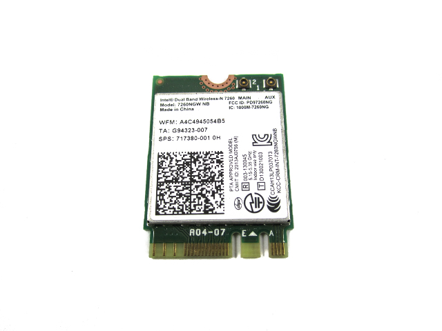 Genuine HP Intel Dual Band Wireless-N 7260 2x2 WiFi Module