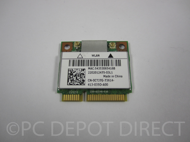 Genuine Dell Wireless N 1202 PCI-E MINI Card 0CTJ7G WLAN Bluetooth 4.0