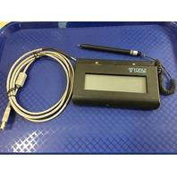 """Topaz SigLite 1x5"""" LCD T-LBK460-HSB-R USB Backlit Signature Capture Pad"""