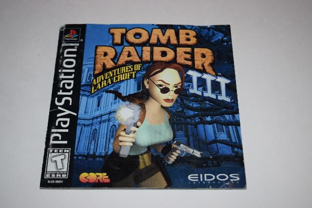 tomb raider iii adventures of lara croft playstation ps1 video game rh ebay com playstation 1 games manuals playstation game manual scans