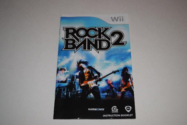 rock band 2 nintendo wii video game manual only ebay rh ebay com Wii U Video Game Logos