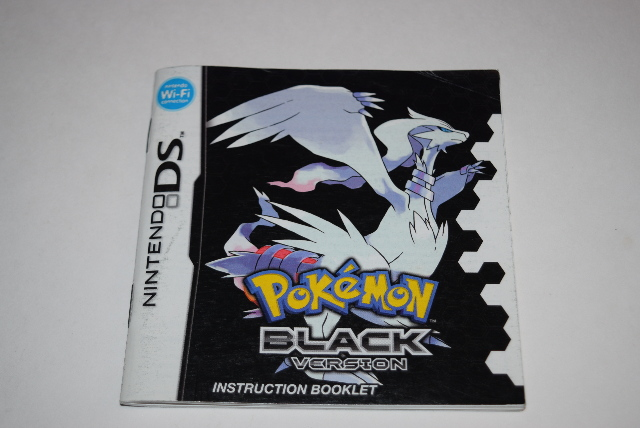 pokemon black nintendo ds video game manual only ebay rh ebay com nintendo ds games instruction manuals nintendo ds game manuals download