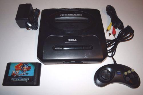 Sega genesis 2 console video game system bundle with sonic 2 cart ebay - Sega saturn virtual console ...