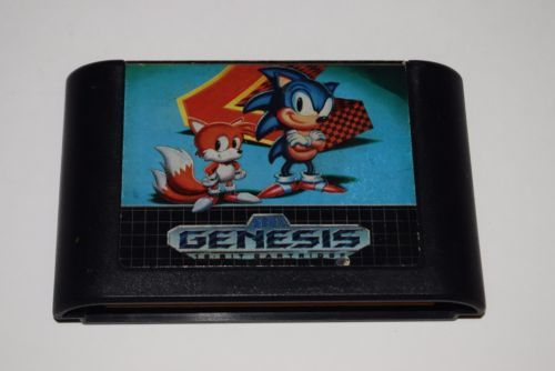 Sega Genesis Console Video Game System Bundle with Sonic 2 cart