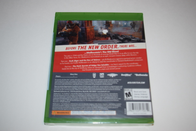 Wolfenstein The Old Blood Microsoft Xbox One Video Game New