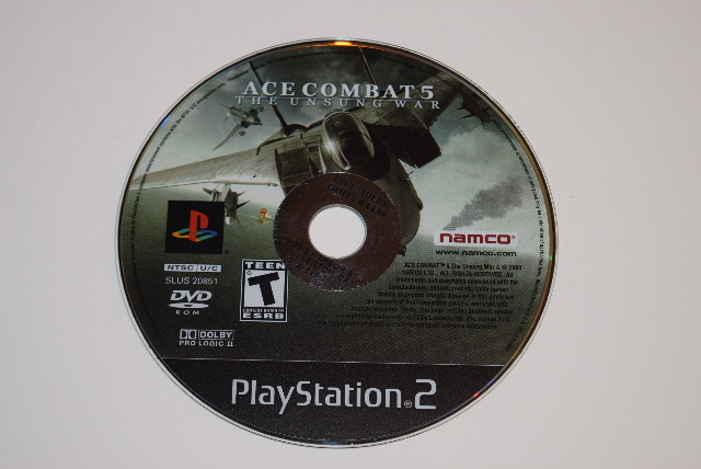 sony playstation 2 cd. ace combat 5 the unsung war sony playstation 2 ps2 video game disc only cd