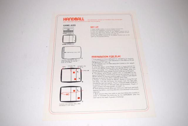 handball magnavox odyssey 1 video game instruction manual only ebay rh ebay com magnavox vhs dvd recorder instruction manual magnavox user manual
