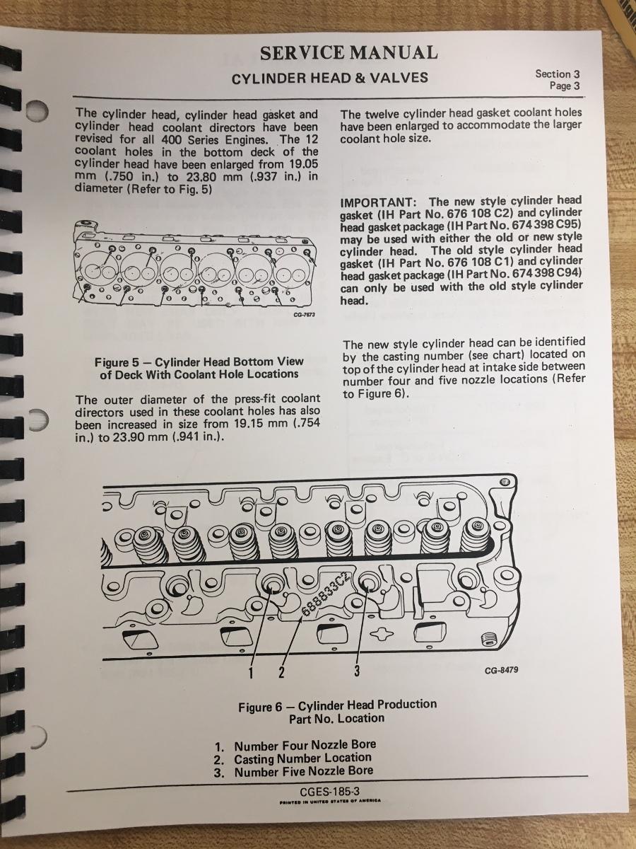 International 175C Loader Engine Service manual DT466B