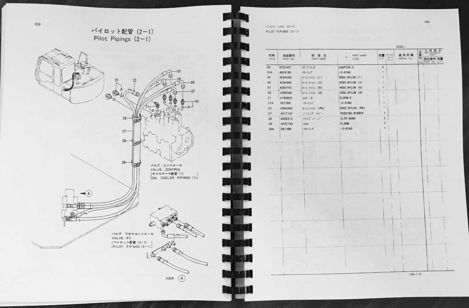 hitachi ex60 2 excavator parts manual book catalog p10k 1 5 p10k15 rh finneyparts us Hitachi Construction Equipment Manuals hitachi excavator parts manual pdf
