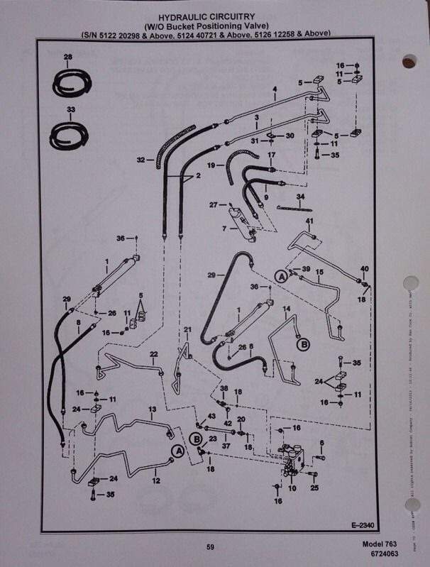 763 bobcat hydraulic schematic bobcat 763 763f 763h skid steer parts manual book 6724063 early  bobcat 763 763f 763h skid steer parts