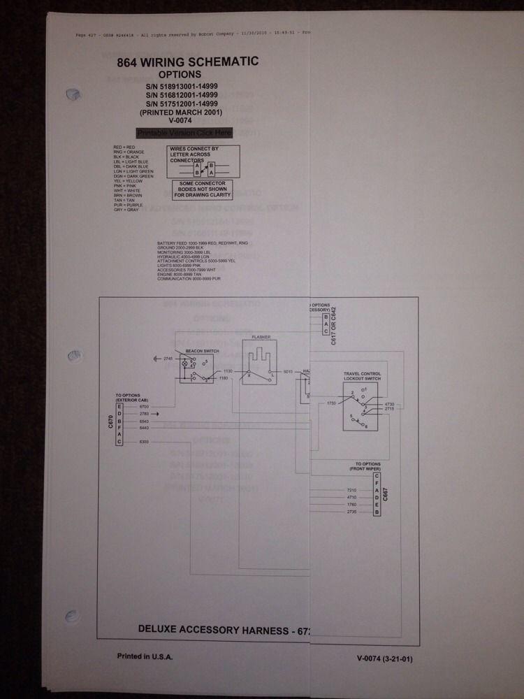 bobcat 864 wiring diagram bobcat 864 track skid steer service manual book 6900945 finney  track skid steer service manual book
