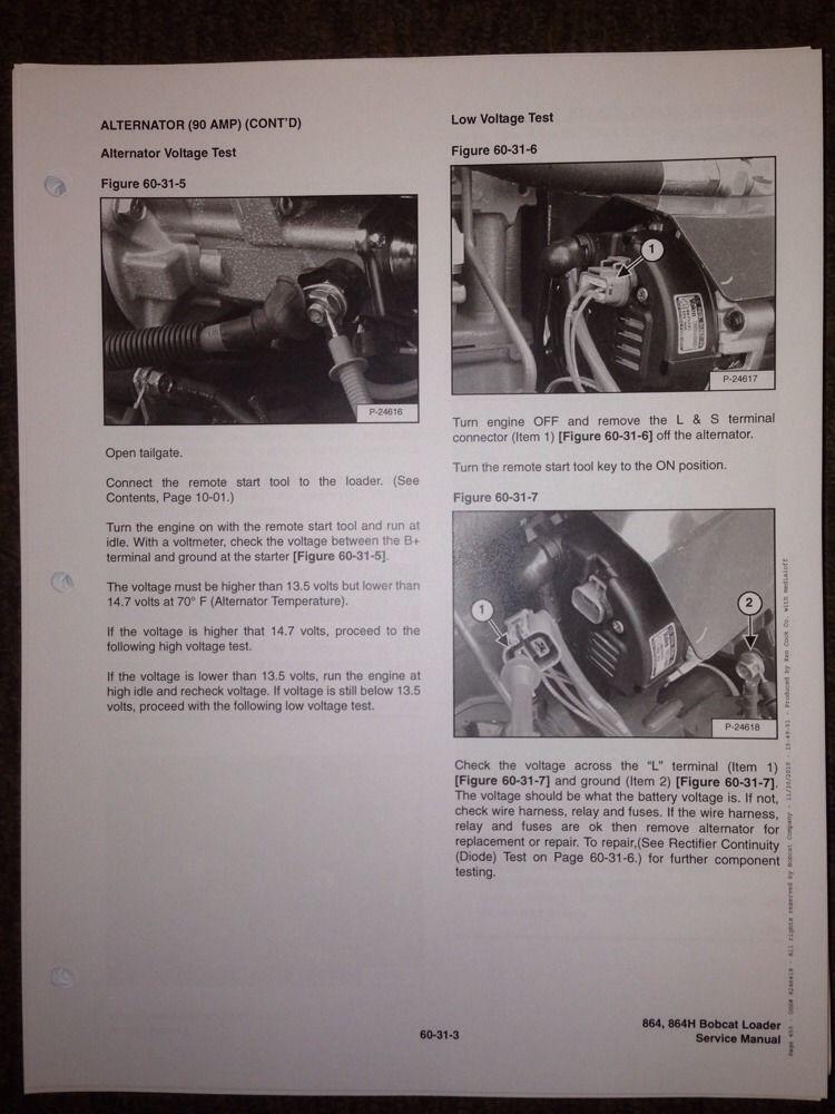 bobcat 864 track skid steer service manual book 6900945
