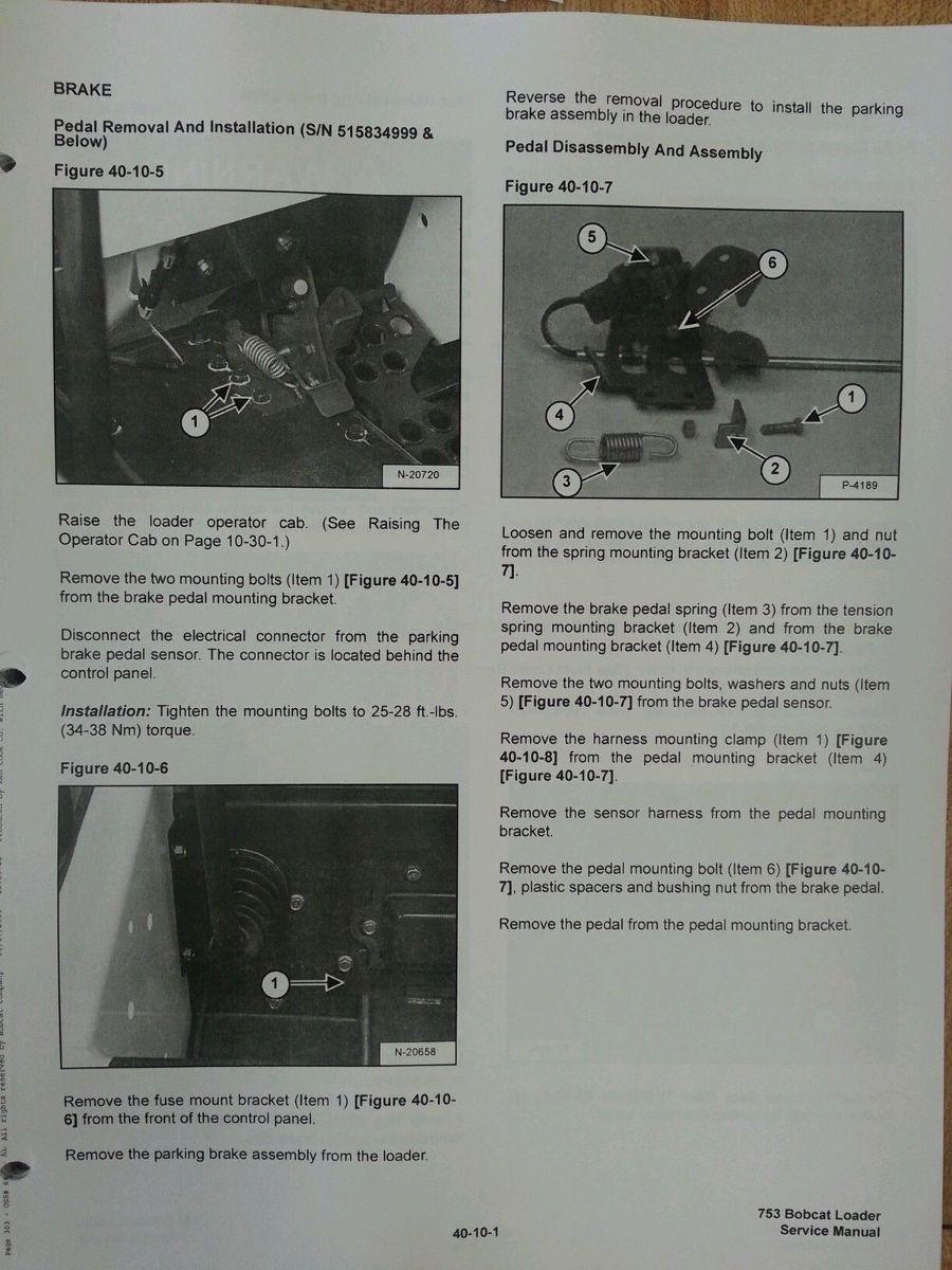 Bobcat Skid Steer 753g 753 Service Manual Book 6900976 Finney Electrical Wiring Diagram